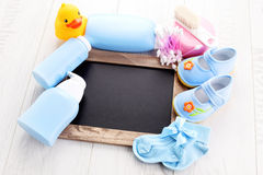 Baby stuff. We will have a baby - baby stuff Royalty Free Stock Image