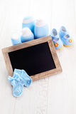 Baby stuff. We will have a baby - baby stuff Royalty Free Stock Photo