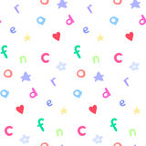 Baby style pattern. Childish style seamless pattern with sample in swatch panel AI Stock Photos
