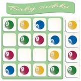 Baby Sudoku met kleurrijke biljartballen stock illustratie