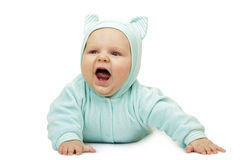 The baby in suit of cat Royalty Free Stock Photography