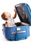 Baby in suitcase Stock Photography