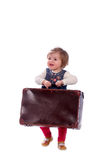 Baby with suitcase Royalty Free Stock Photography