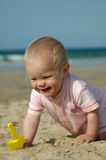 Baby summer fun stock images
