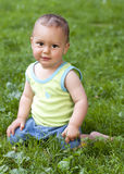Baby summer portrait Royalty Free Stock Images