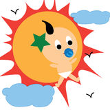 Baby sun Stock Images