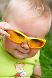 Baby with sun glasses Royalty Free Stock Image