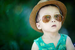 Baby in sun glasses Stock Photography