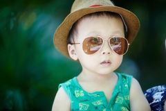 Baby in sun glasses Royalty Free Stock Image