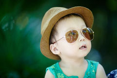 Baby in sun glasses Royalty Free Stock Images