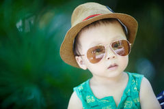 Baby in sun glasses Stock Photo