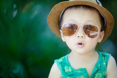 Baby in sun glasses Royalty Free Stock Photo