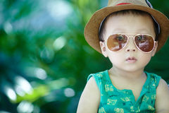 Baby in sun glasses Royalty Free Stock Photos