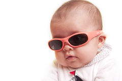 Baby with sunglasses Royalty Free Stock Photos