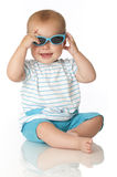 Baby with sunglasses Stock Images