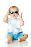 Baby with sunglasses Royalty Free Stock Photography