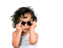Baby in sunglasses. Stock Image