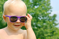 Baby in Sunglasses Stock Photos