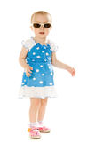 Baby in sunglasses, isolated Royalty Free Stock Image
