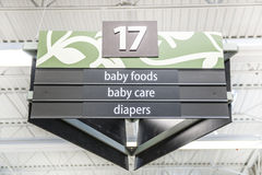 Baby Supply Aisle Stock Photography
