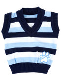 Baby sweater striped with blue strip Stock Photo