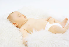 Baby sweet sleeping Stock Image