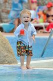 Baby on a swiming-pool Stock Images