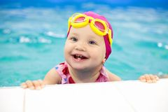 Baby swimmer Stock Photos