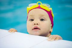 Baby swimmer Stock Photo