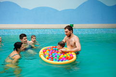 Baby swimming lessons Royalty Free Stock Photos