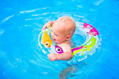Baby in a swimming pool Royalty Free Stock Photo