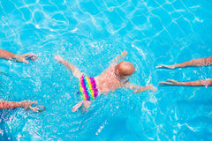 Baby swimming underwater Royalty Free Stock Photos