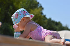 Baby in swimsuit Royalty Free Stock Photos