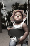 Baby on a swing Royalty Free Stock Photo