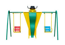 Baby swing front view Royalty Free Stock Photography