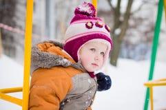 Baby swing on playground Stock Photo