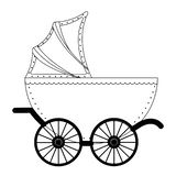 Isolated baby stroller design vector illustration stock illustration