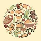Baby symbols Stock Image