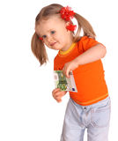 Baby  in  t-shirt with money. Stock Photography
