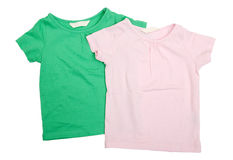 Baby t-shirts Royalty Free Stock Images