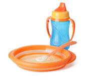 Baby tableware Royalty Free Stock Photos