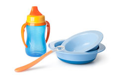 Baby tableware Stock Photo