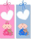 Baby tags Royalty Free Stock Image