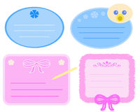 Baby Tags Royalty Free Stock Photos