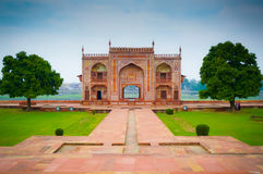 Baby Taj river gate royalty free stock images