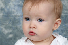 Baby Taken Closeup Stock Photography