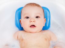 Baby taking a bath Royalty Free Stock Images
