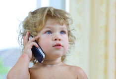Baby talks Stock Photography