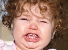 Baby tantrum. Close up of a crying baby Stock Photo
