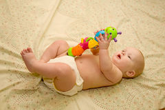 Baby teaching colors Royalty Free Stock Photography